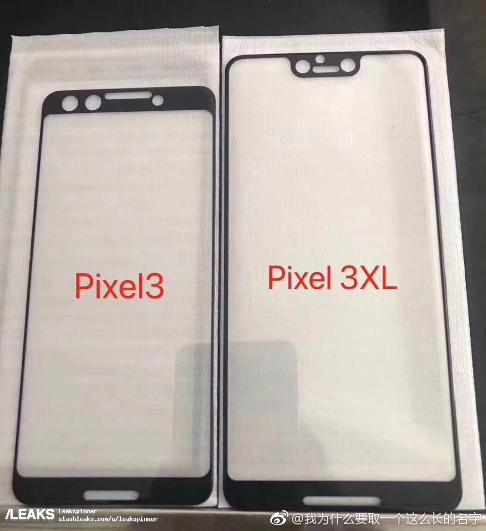 Фронтальные панели новых смартфонов Google Pixel запечатлены на фото. Вырез вверху экрана будет только у старшей модели