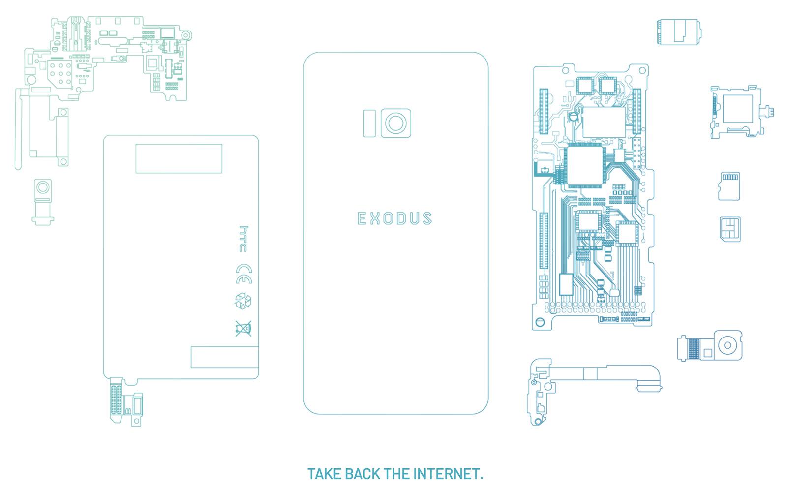 HTC представила блокчейн смартфон HTC Exodus
