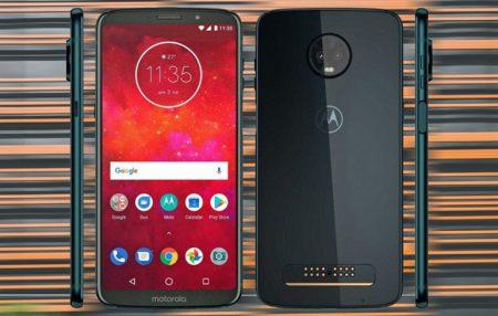 Появились качественные изображения смартфона Moto Z3 Play