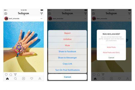 В Instagram добавили кнопку «Игнорировать». Она позволит скрывать публикации тех или иных пользователей, не отписываясь от них