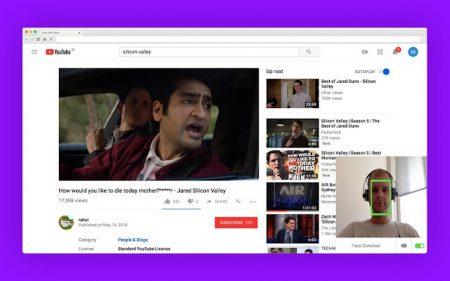 Расширения FacePause для браузера Google Chrome останавливает видео на YouTube, когда пользователь не смотрит на экран