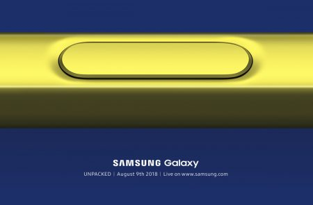 Мероприятие Galaxy Unpacked, посвященное анонсу Samsung Galaxy Note9, запланировано на 9 августа