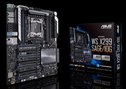 ASUS анонсировала материнскую плату WS X299 SAGE 10G с двумя 10-гигабитными сетевыми портами
