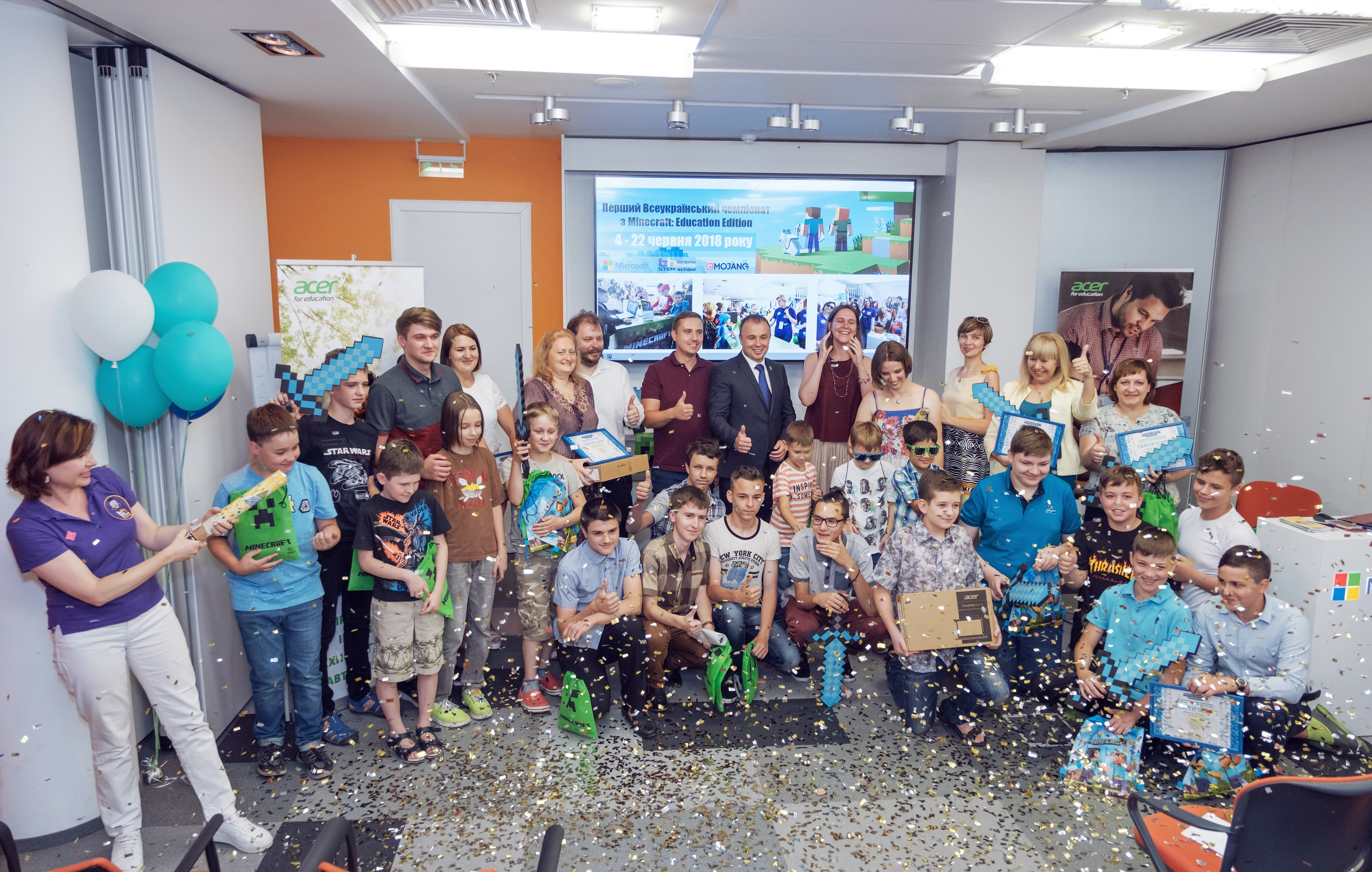 В Украине завершился первый чемпионат по образовательной версии Minecraft, в котором участвовали 280 школьников со всех уголков страны