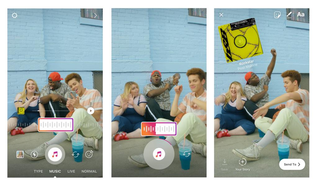 В истории Instagram, которые ежедневно смотрят 400 млн человек, теперь можно вставлять музыку