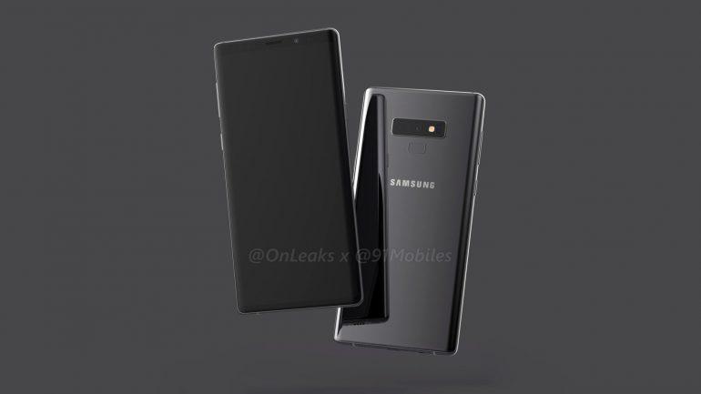 В сети появился финальный рендер смартфона Samsung Galaxy Note 9 с обновленным блоком основной камеры