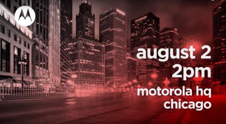 У Motorola на 2 августа в Чикаго запланирован «крупный анонс» (ожидаются смартфоны Moto Z3 и Motorola One)