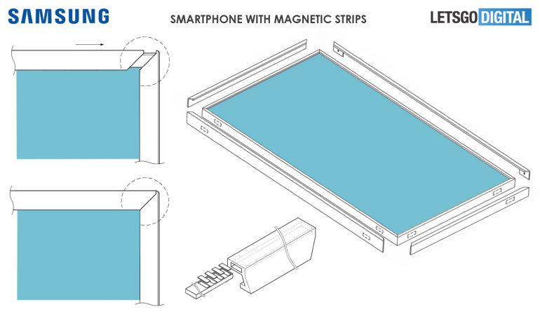 Samsung запатентовала вариант конструкции смартфона без рамок