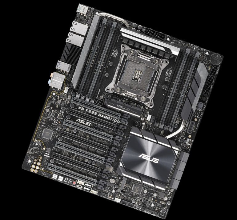 ASUS анонсировала материнскую плату WS X299 SAGE 10G с двумя 10-гигабитными сетевыми портами - ITC.ua