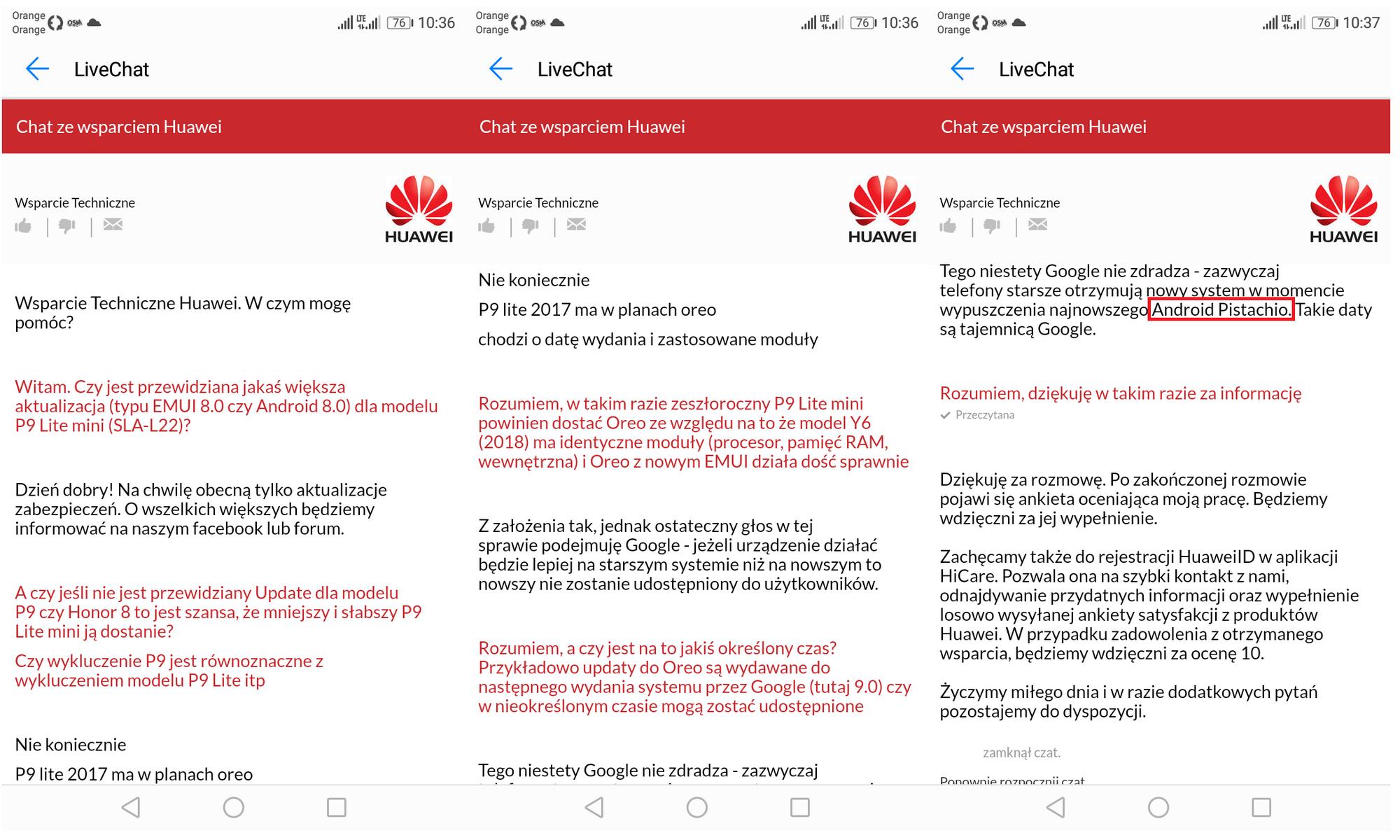 Huawei случайно раскрыла официальное название андроид  P