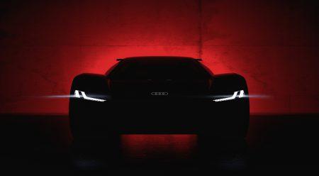 Audi показала первый тизер электрического суперкара Audi PB 18 e-tron, его анонс состоится 23 августа на Pebble Beach