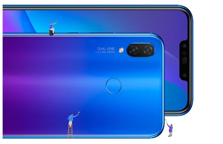 Представлены смартфоны среднего уровня Huawei Nova 3 и P smart+ (Nova 3i) с четырьмя камерами, технологией GPU Turbo и градиентной расцветкой Iris Purple