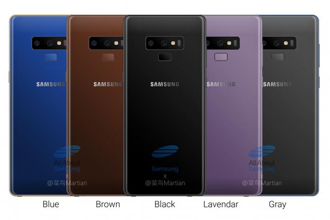Samsung Galaxy Note9 будет представлен 9 августа, цена базовой версии составит €990