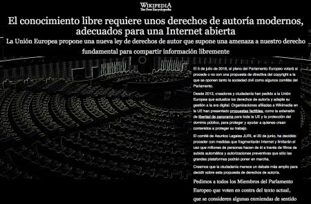 «Википедия» устроила «блэкаут» на нескольких европейских языках в знак протеста против директивы об авторском праве. Европарламент ее уже отклонил