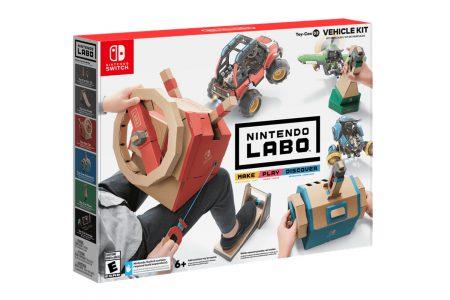 Nintendo представила новый набор Toy-Con 3: Vehicle Kit для конструктора Labo, который позволяет управлять машиной, самолетом и субмариной