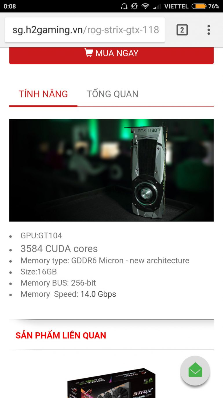 Вьетнамский онлайн-ритейлер оценил видеокарту NVIDIA GeForce GTX 1180 (Turing) в $1500