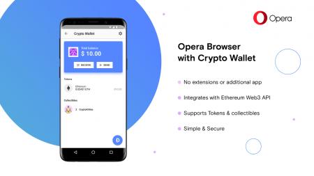 В бета-версии браузера Opera для Android появился криптовалютный кошелек