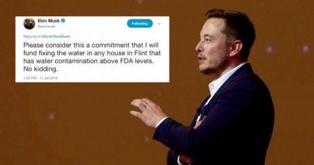 Илон Маск снова готов помочь нуждающимся. На сей раз с очисткой питьевой воды в американском городе