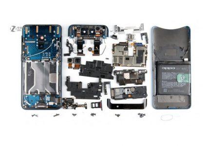 Разборка Oppo Find X выявила особенности конструкции смартфона, включая механизм поднятия блока камер