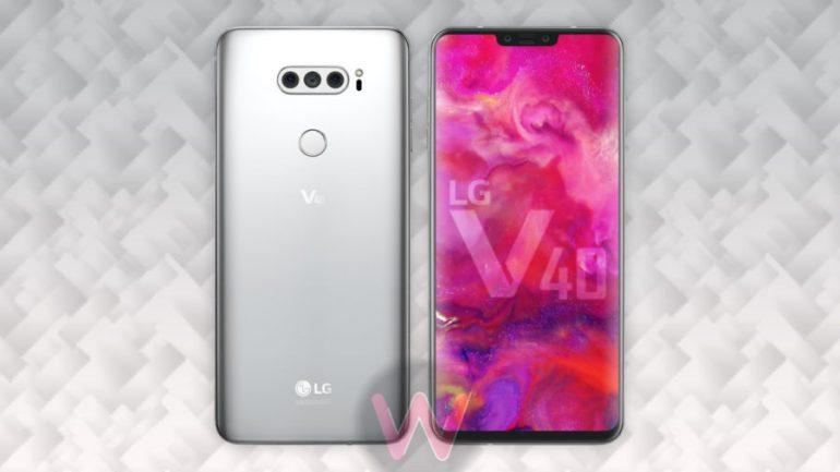 Концепт LG V40 демонстрирует дисплей с вырезом и конфигурацию из 5 камер