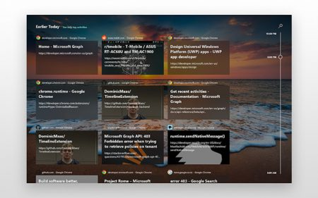 Стороннее расширение добавляет поддержку функции Windows Timeline в браузеры Chrome и Firefox