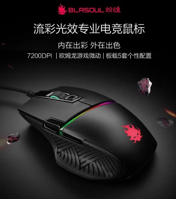 Новая игровая мышь Xiaomi Blasoul Y720 Lite оценивается в $52