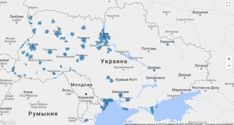 «Киевстар» запустил 4G в диапазоне 1800 МГц в Луцке, Черновцах, Могилев-Подольском и еще 448 населенных пунктах Украины - ITC.ua