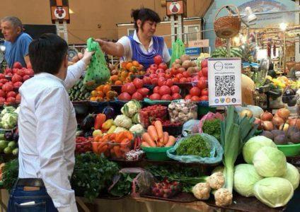 «Пучок укропа – за крипту»: На Бессарабском рынке теперь можно рассчитываться криптовалютами