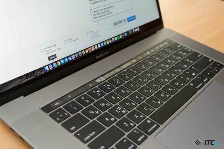 клавиатура MacBook Pro 15 2018