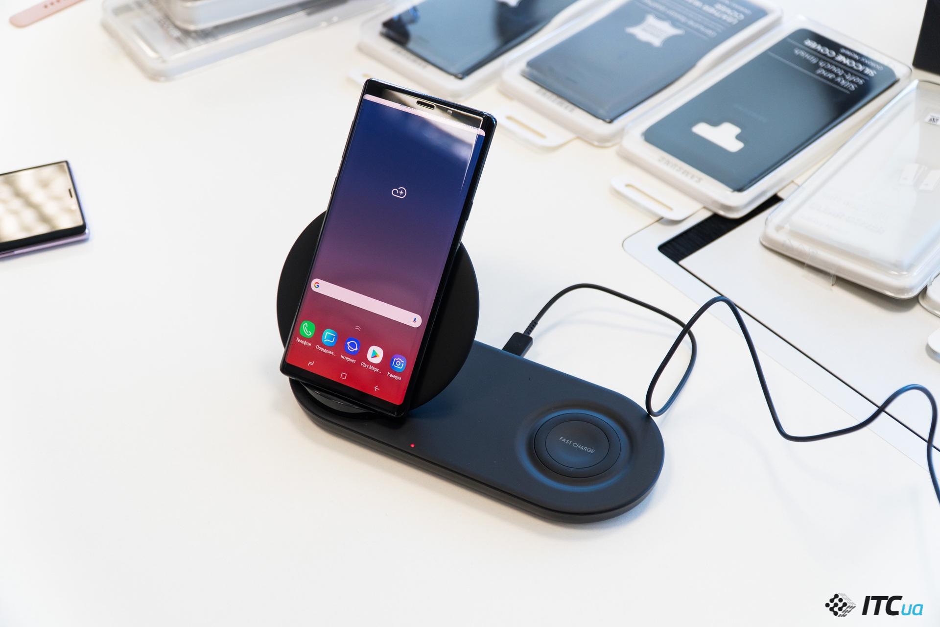 беспроводная зарядка Galaxy Note9