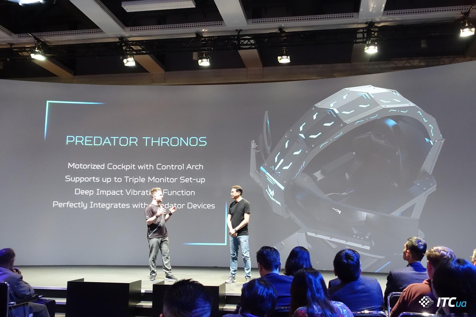 Мечта ПК-геймера по версии Acer Predator: ультимативное игровое кресло и ноутбук-трансформер