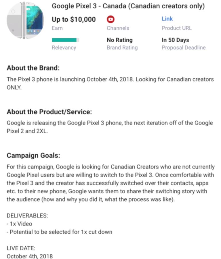 Google случайно раскрыла дату презентации смартфонов серии Pixel 3