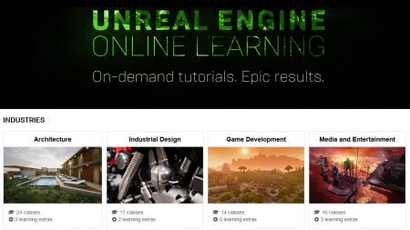 Epic Games представила новую онлайн-платформу Unreal Engine Online Learning для бесплатного обучения Unreal Engine