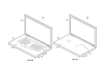 Apple запатентовала ноутбук с виртуальной клавиатурой и невидимым тачпадом