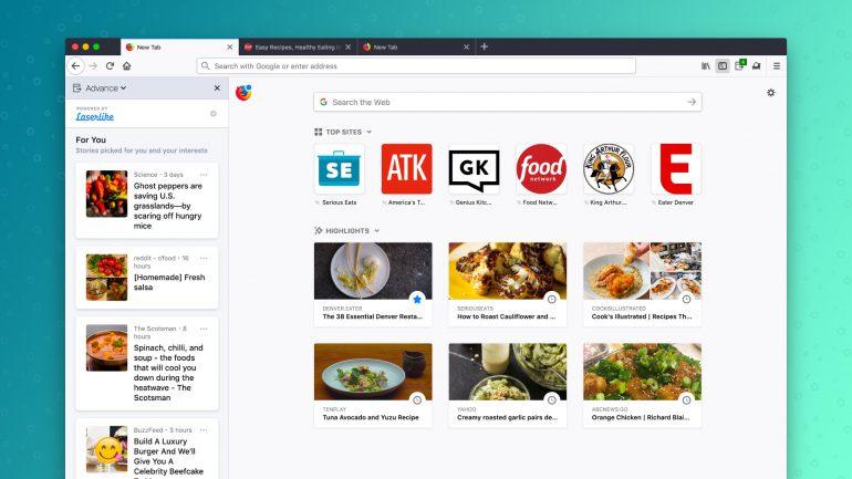 Новый эксперимент Mozilla: расширение Firefox Advance, которое анализирует историю сетевой активности для подбора потенциально интересных сайтов и статей