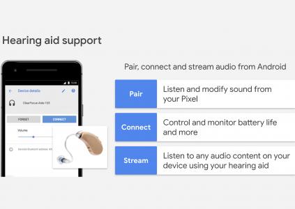 Google работает над нативной поддержкой слуховых аппаратов с интерфейсом Bluetooth для Android-смартфонов
