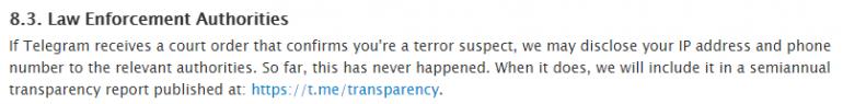 ОБНОВЛЕНО: Telegram согласился выдавать данные пользователей спецслужбам, но только подозреваемых в терроризме и по решению суда