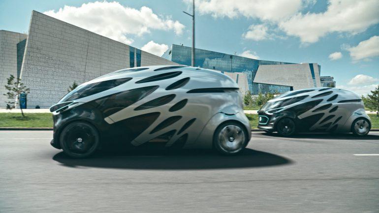 Benz представила Vision URBANETIC: электромобиль конструктор для всех видов перевозок