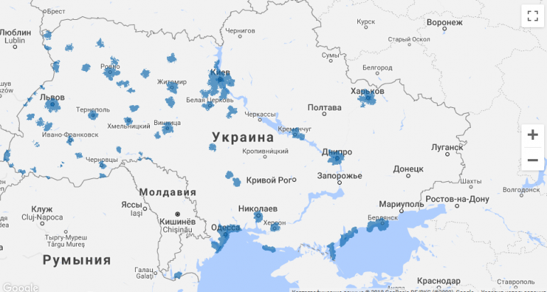 «Киевстар» запустил 4G на частотах 1800 МГц в Кременчуге, Горишних Плавнях и 70 населенных пунктах Полтавской области