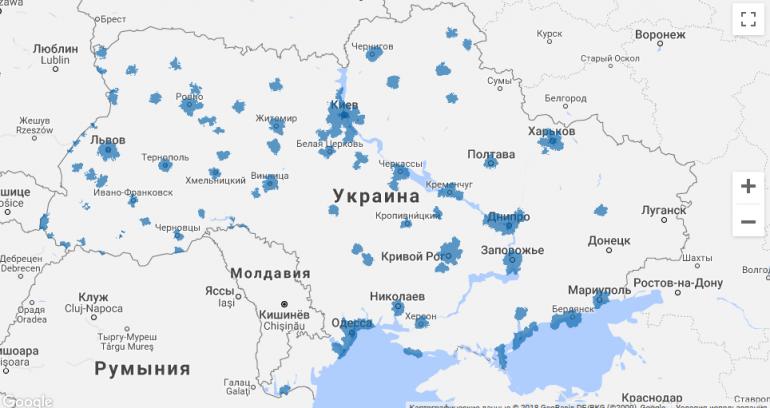 «Киевстар» расширил 4G-покрытие в пяти областях Украины, теперь доступ к скоростному интернету имеют 20 млн украинцев в 3353 населенных пунктах страны