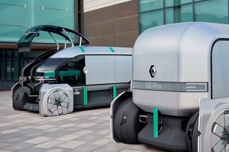 Renault EZ-PRO — концепт электрического коммерческого робомобиля, который можно использовать для торговли и курьерской доставки