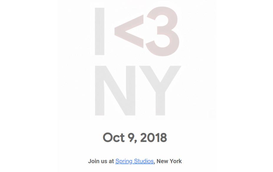 Презентация новых смартфонов Pixel 3 и других новинок Google пройдет в Нью Йорке 9 октября