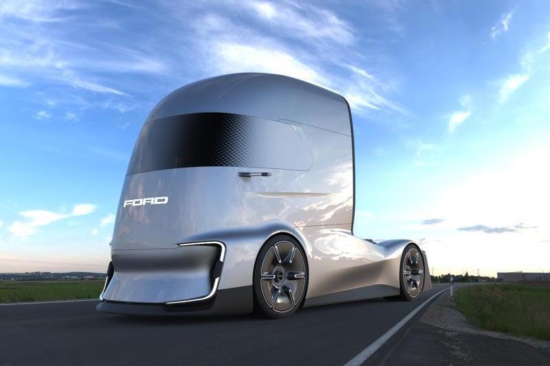 Компания Форд  представила беспилотный электрический грузовой автомобиль