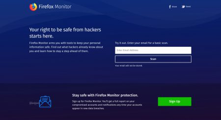 Сервис Firefox Monitor предупредит пользователей, если их личные данные окажутся под угрозой