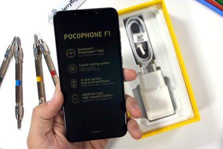 JerryRigEverything испытал на прочность «бюджетный флагман» Xiaomi Pocophone F1 [видео]