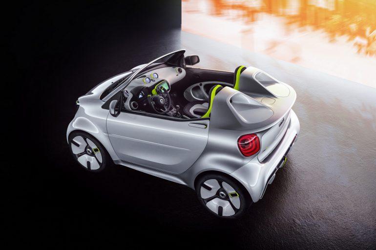 Немецкий автопроизводитель представил «юбилейный» концепт электрического кабриолета Smart Forease