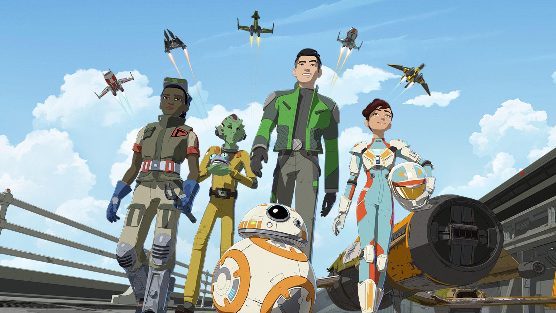 Новости Звездных Войн (Star Wars news): За неделю до премьеры вышел расширенный трейлер анимационного сериала Star Wars Resistance / «Звездные войны: Сопротивление»