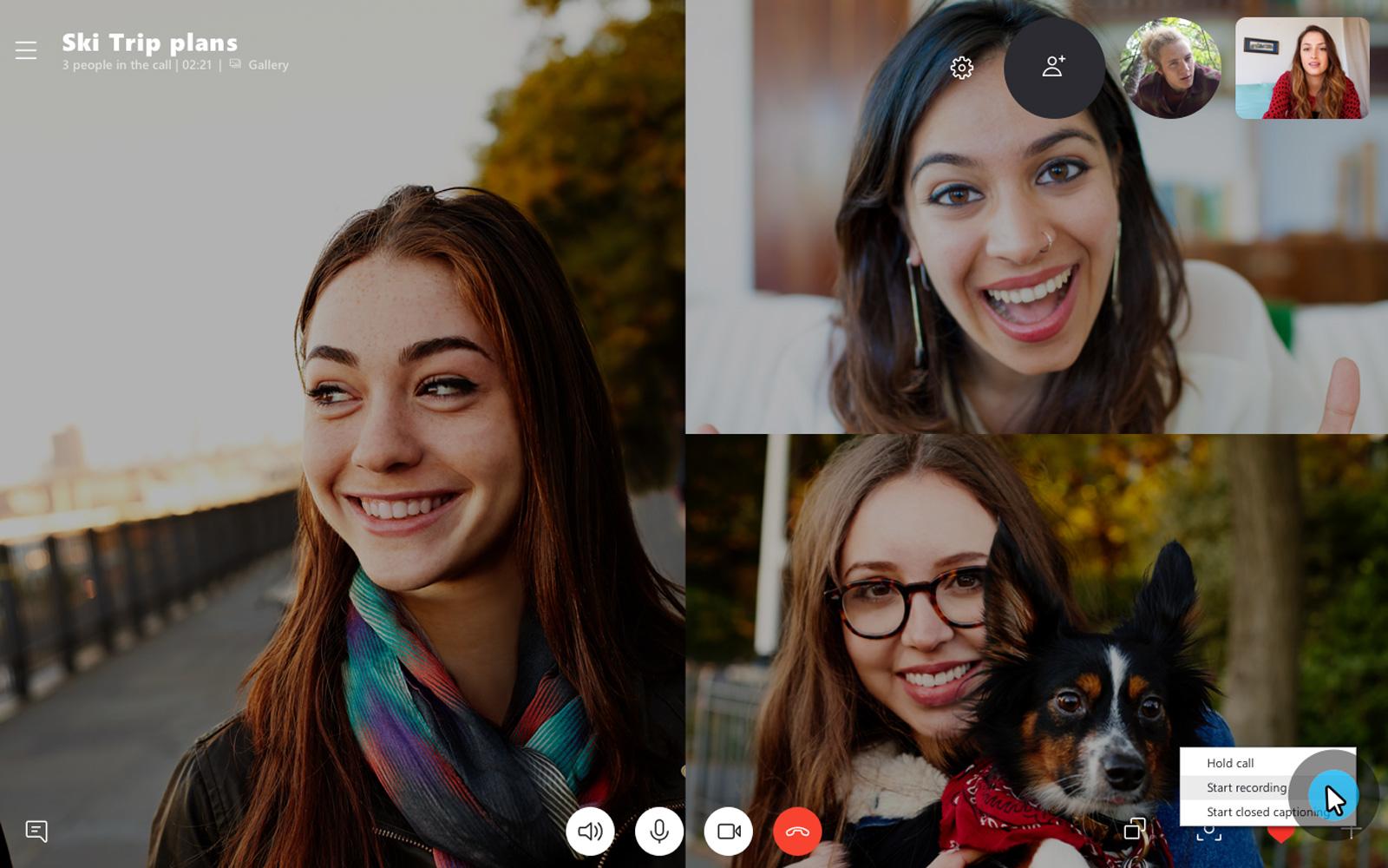 В Skype появилась долгожданная функция записи видеозвонков