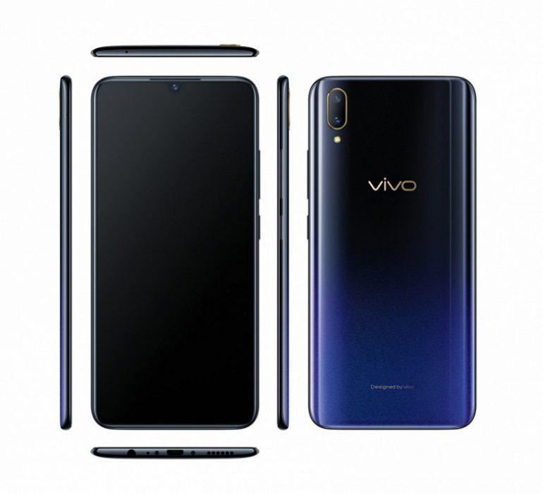 Vivo анонсировала смартфон V11 с дактилоскопическим сенсором в дисплее