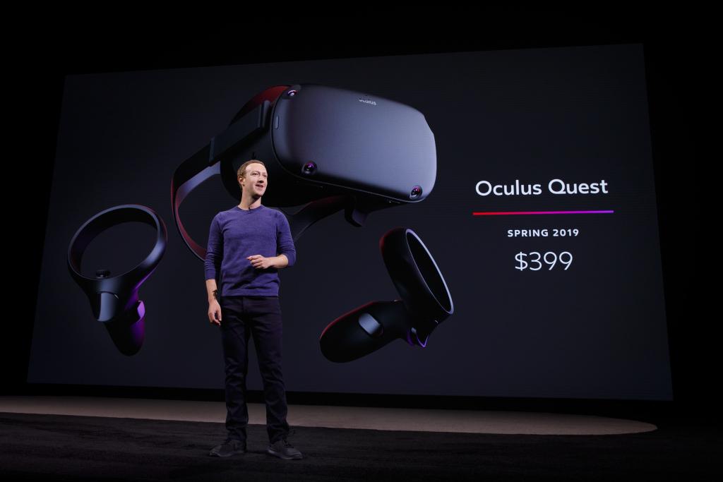 Компания социальная сеть Facebook презентовала свою VR-систему Oculus Quest